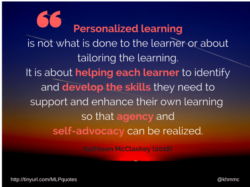 Personalized learning is