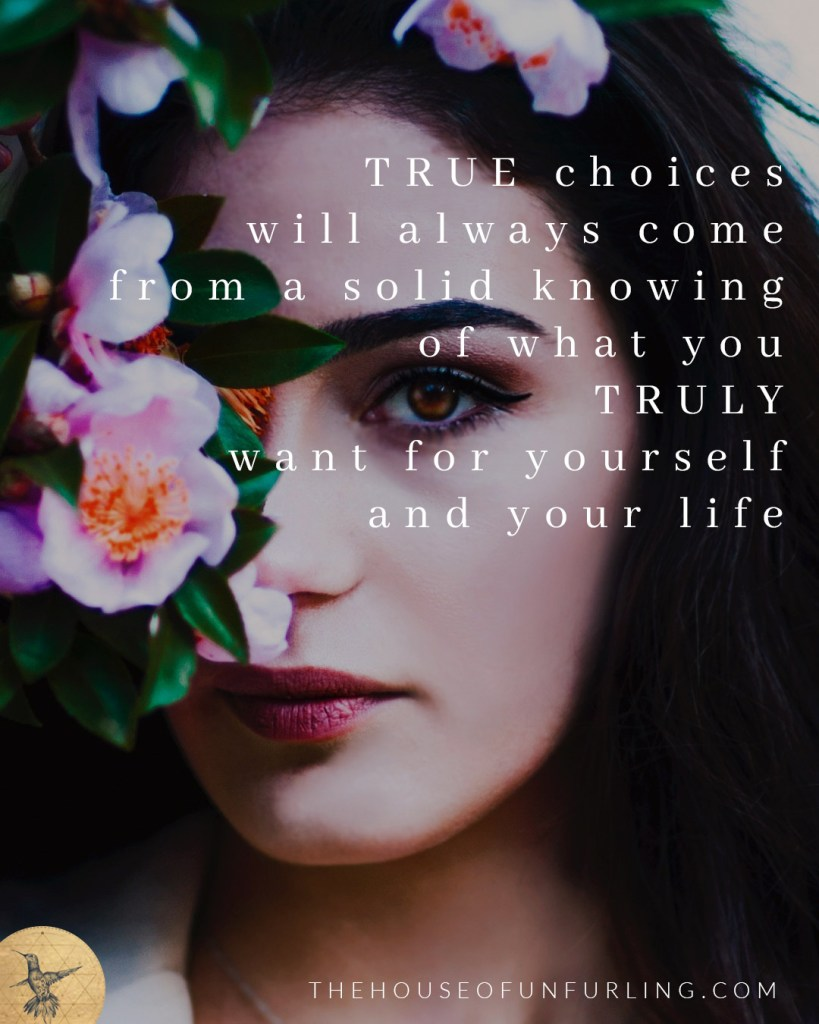 """True choices will always come from a solid knowing of what you truly want for yourself and your life"". Click to read the Full Article: Maybe My Dreams Are Too Big. In Purpose & Feminine Impact - kathleensaelens.com"