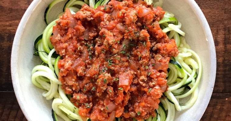No Fuss Turkey Bolognese