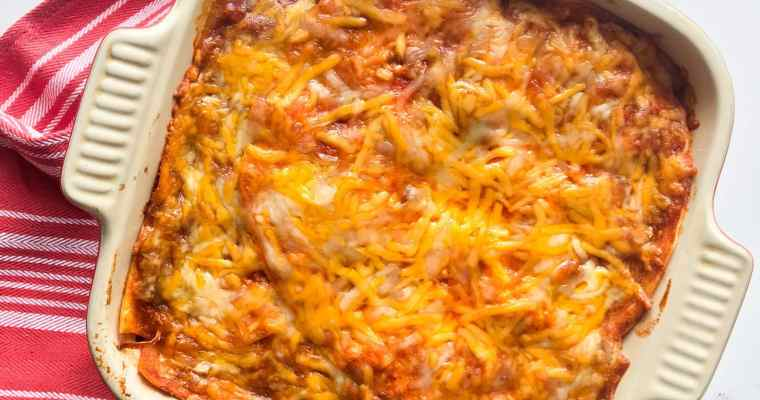 5-Ingredient Chicken Enchilada Bake