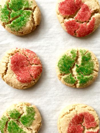 close up of brown butter cookies on parchment paper