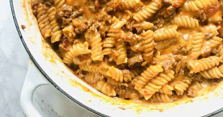 Cheesy One-Pot Taco Pasta
