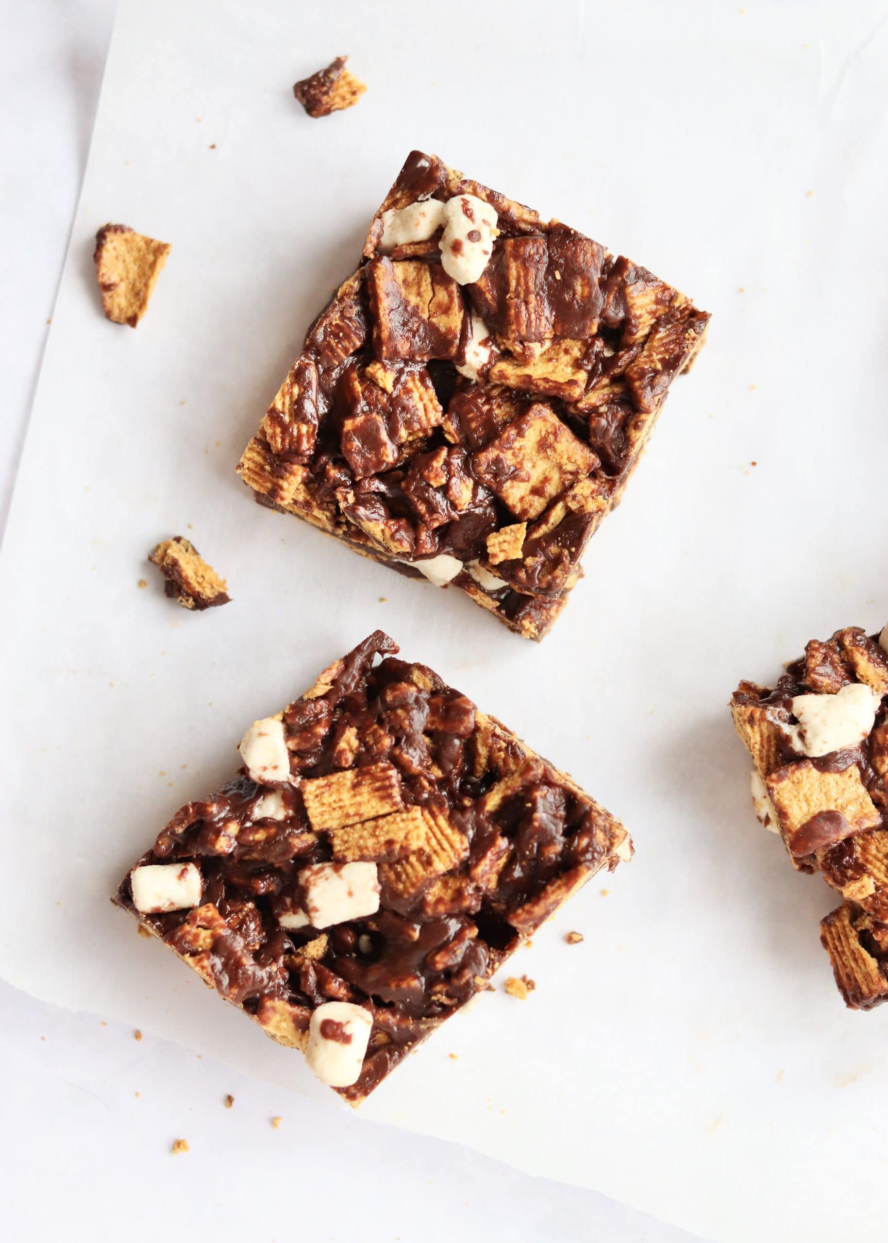 Easy, No-Bake Cereal S'mores Bars