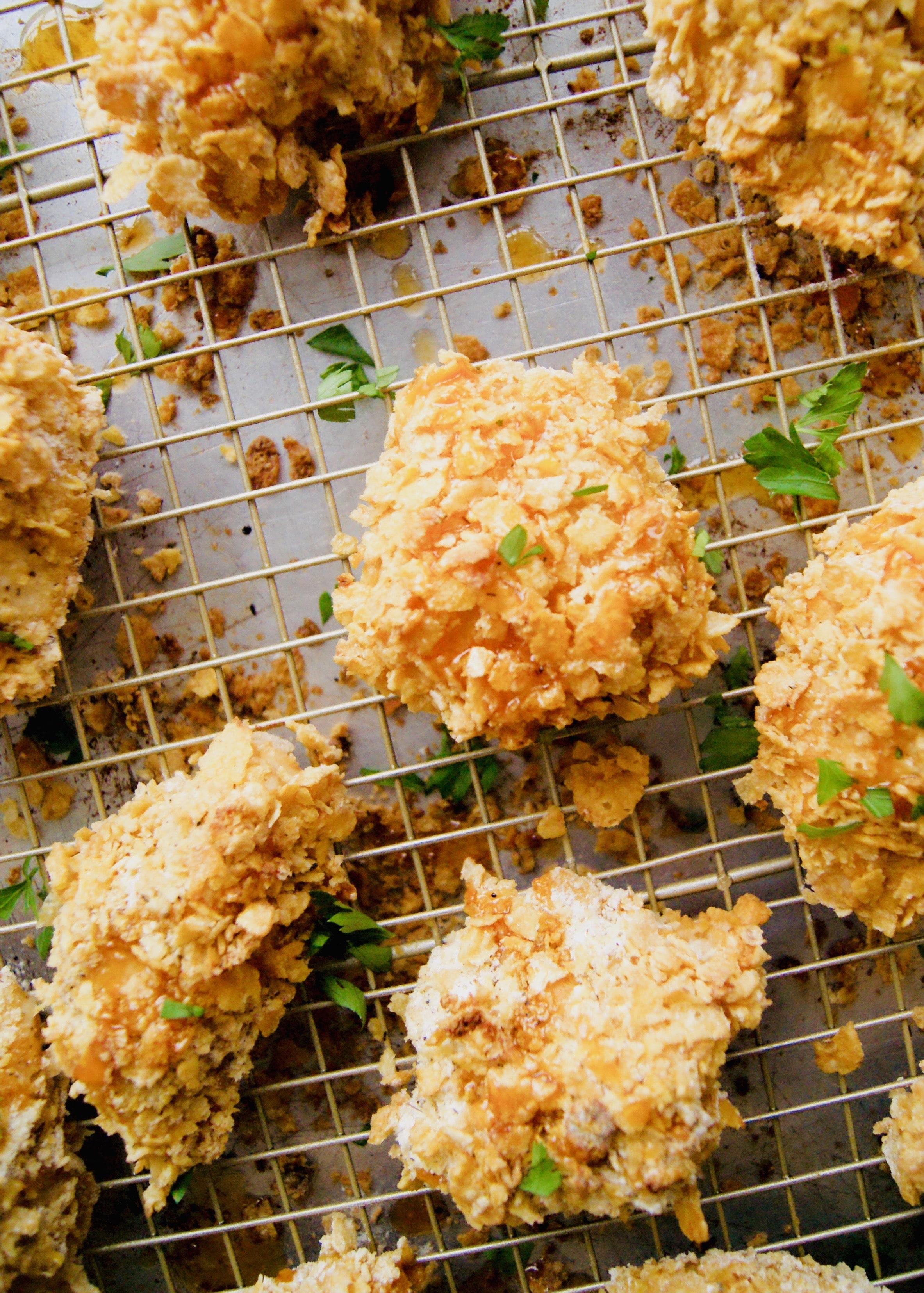 Hot Honey Oven Fried Chicken