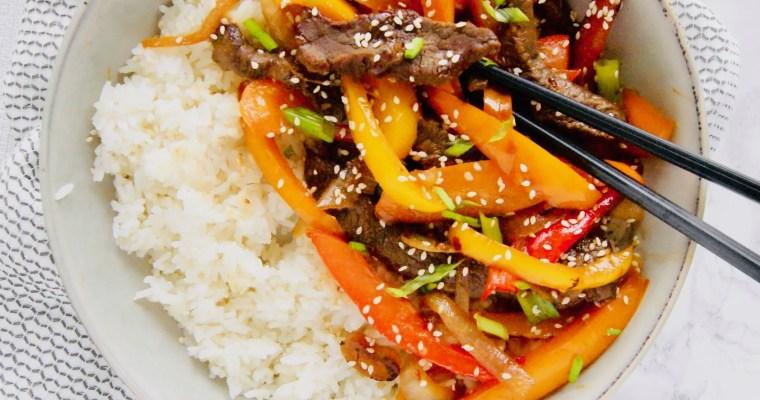 30-Minute Korean Beef Stir Fry