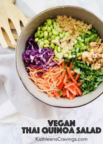 Vegan Thai Quinoa Salad with Text