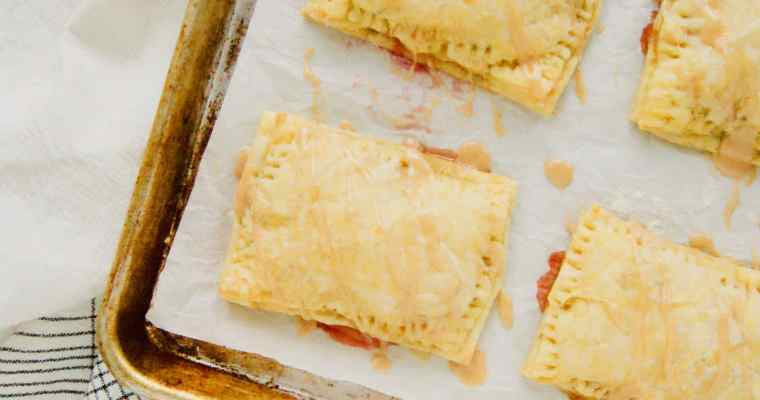 Cinnamon Glazed Peach Pop Tarts