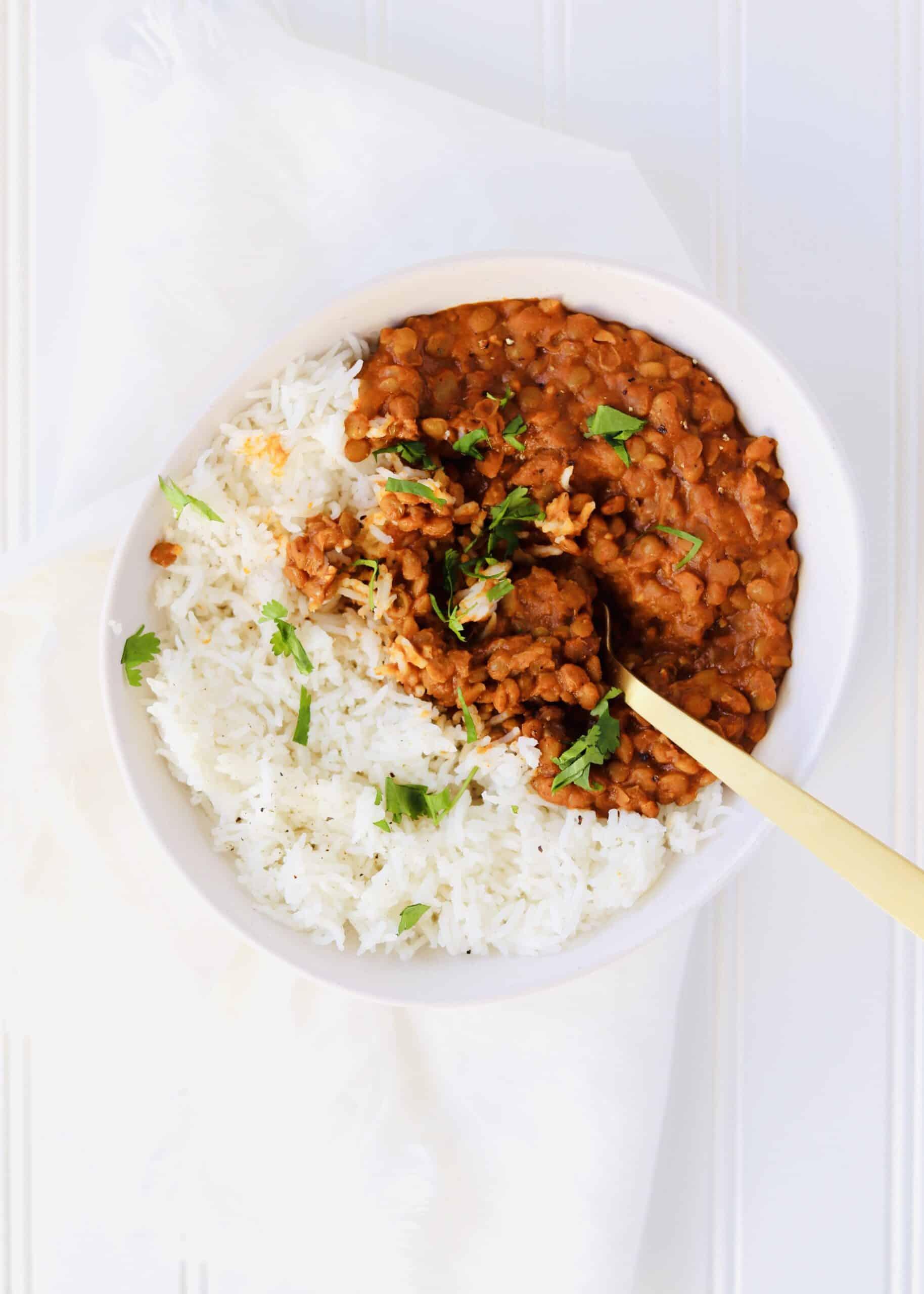 Instant Pot Curry Lentils