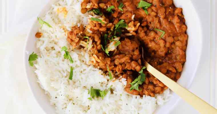 Instant Pot Curry Lentils