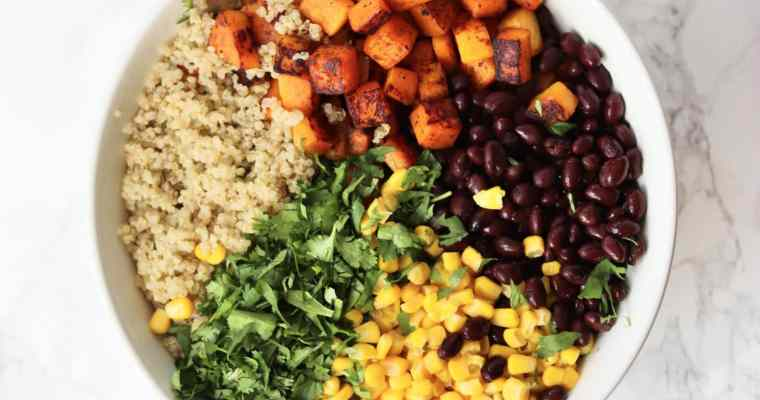 Southwest Butternut Squash Quinoa Salad