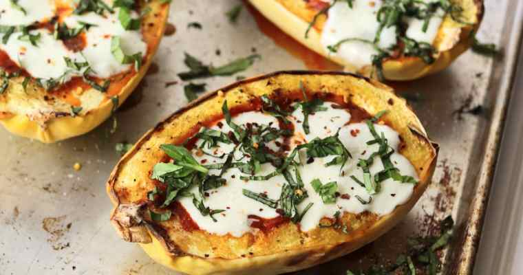 Spicy Marinara Stuffed Spaghetti Squash