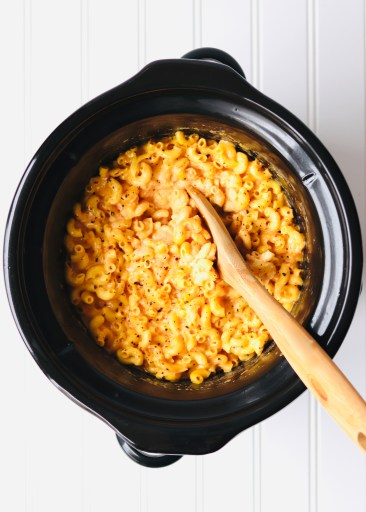 Mac and cheese in a crock pot