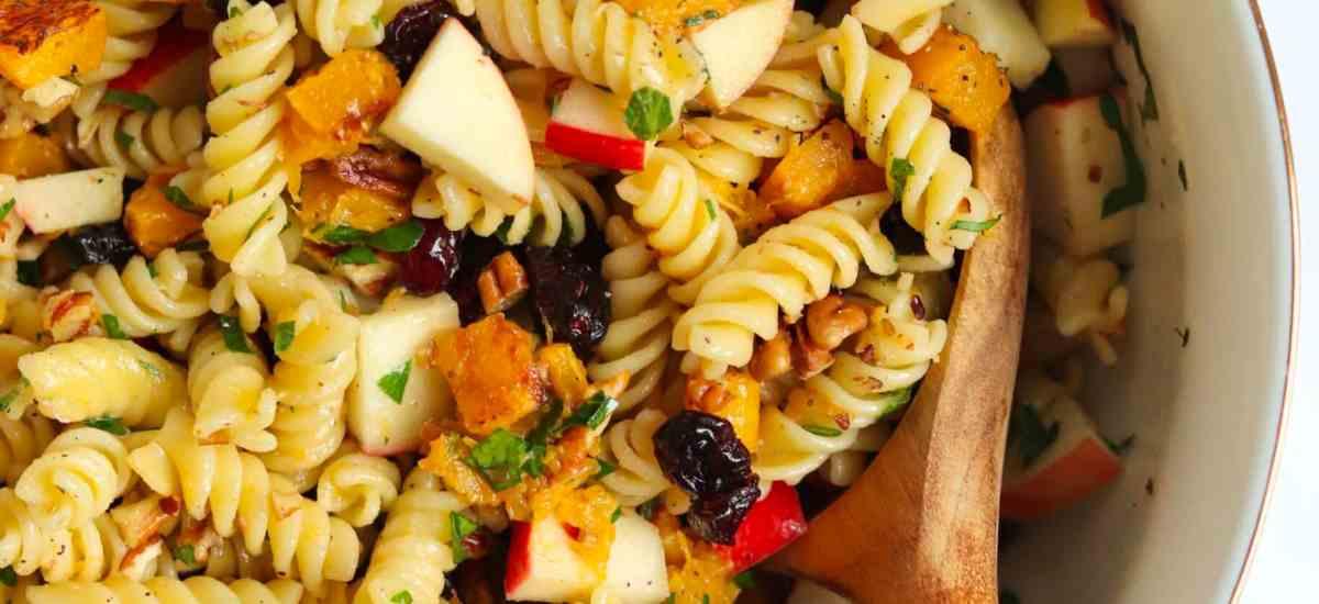 Fall Harvest Vegan Pasta Salad