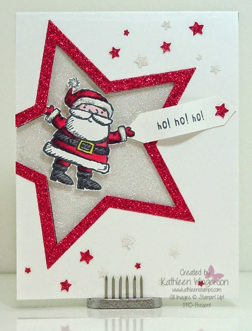 Get Your Santa On Christmas Card Stampin Up