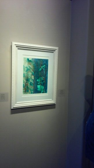 Photo of framed art Dreaming Blue by Kathleen Thoma