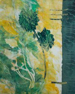 Lavish Flora, Kathleen Thoma, monotype, 11x14