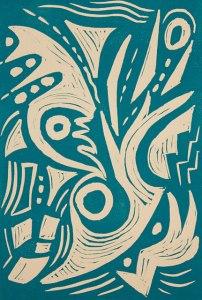 Matrix, Kathleen Thoma, relief, 4x6 in