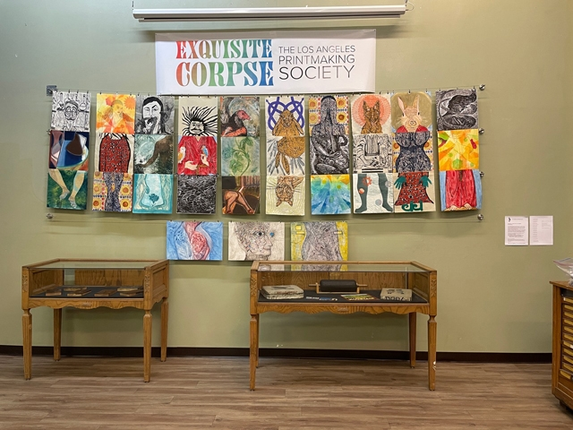 View of Exquisite Corpse Collaborative Exhibit at International Printing Museum