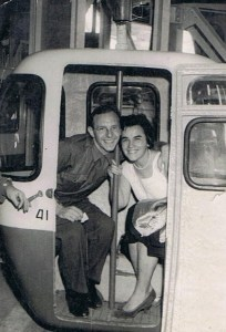 Mijn verliefde ouders op hun eerste uitstapje, in Namen