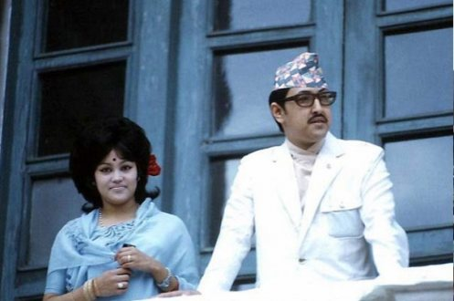 Former King Birendra of Nepal with his consort