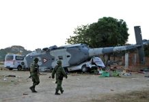 Mexican quake zone helicopter crash
