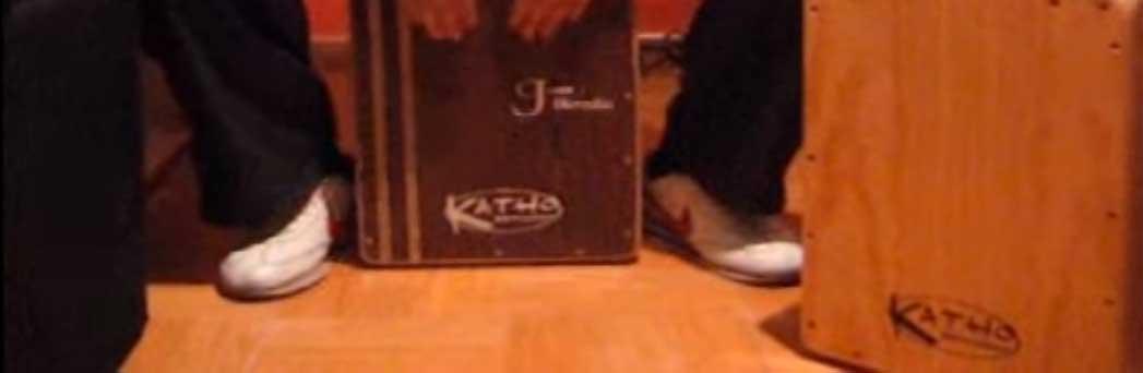 Tocando cajón flamenco KATHO en 2009