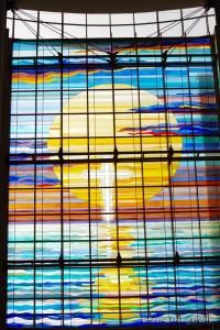 Westfenster der Kirche der Göttlichen Barmherzigkeit