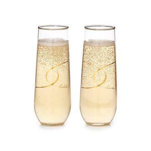 Have & Hold Stemless Champagne Flutes - Kathrine Eldridge, Wardrobe Stylist