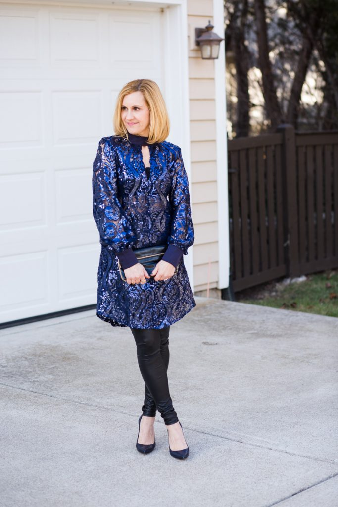 Navy Sequins in January - Kathrine Eldridge, Wardrobe Stylist