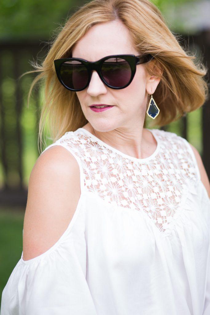 Make Me Chic Wishlist - White Crochet Cold Shoulder Blouse