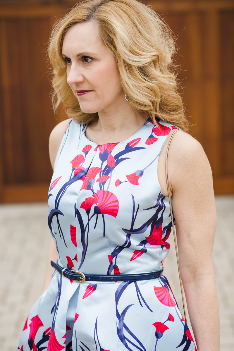 Satin Floral Dress by Closet London from the Haru Collection