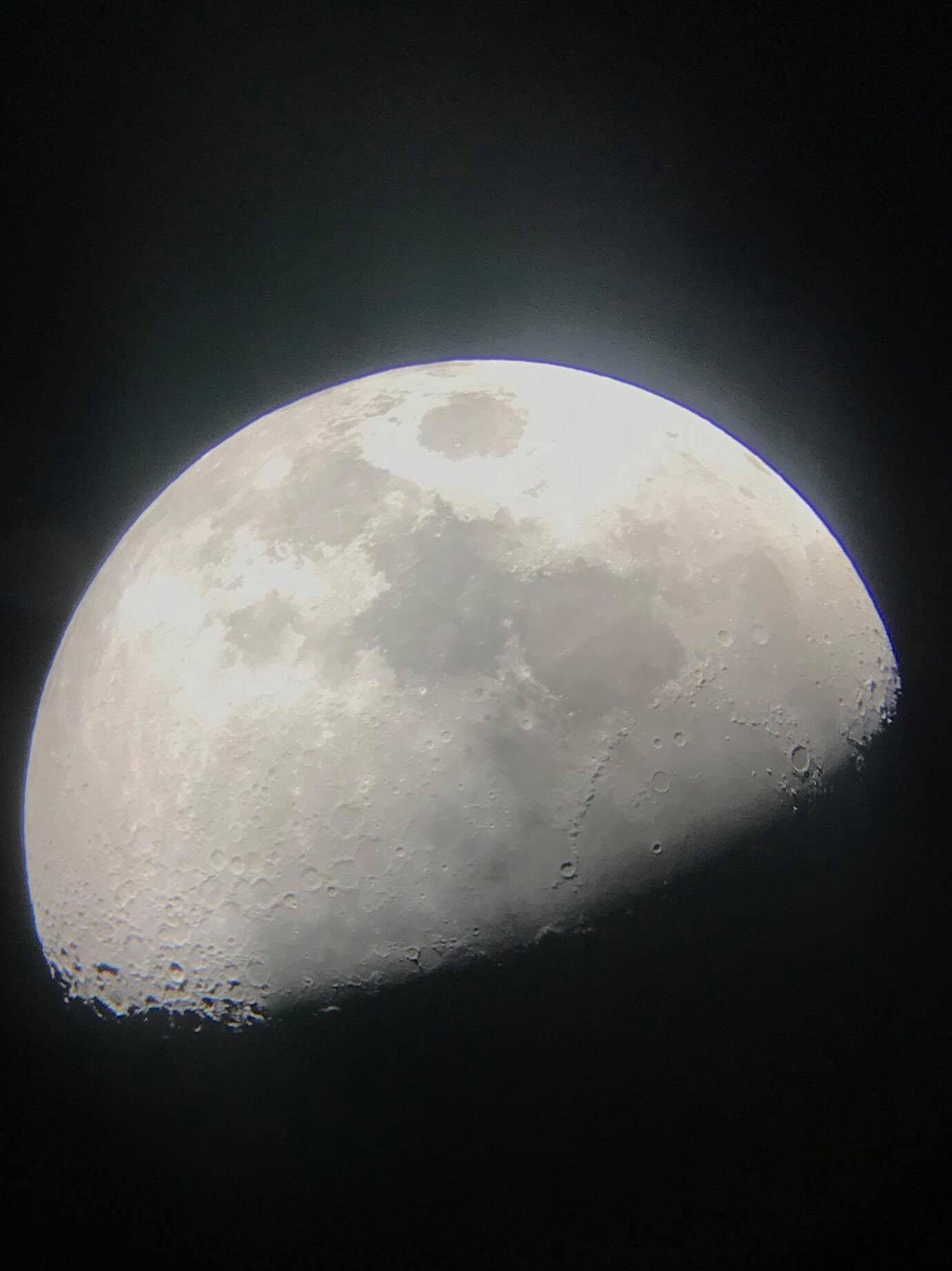 View of moon on the Dark Rangers Telescope Tour