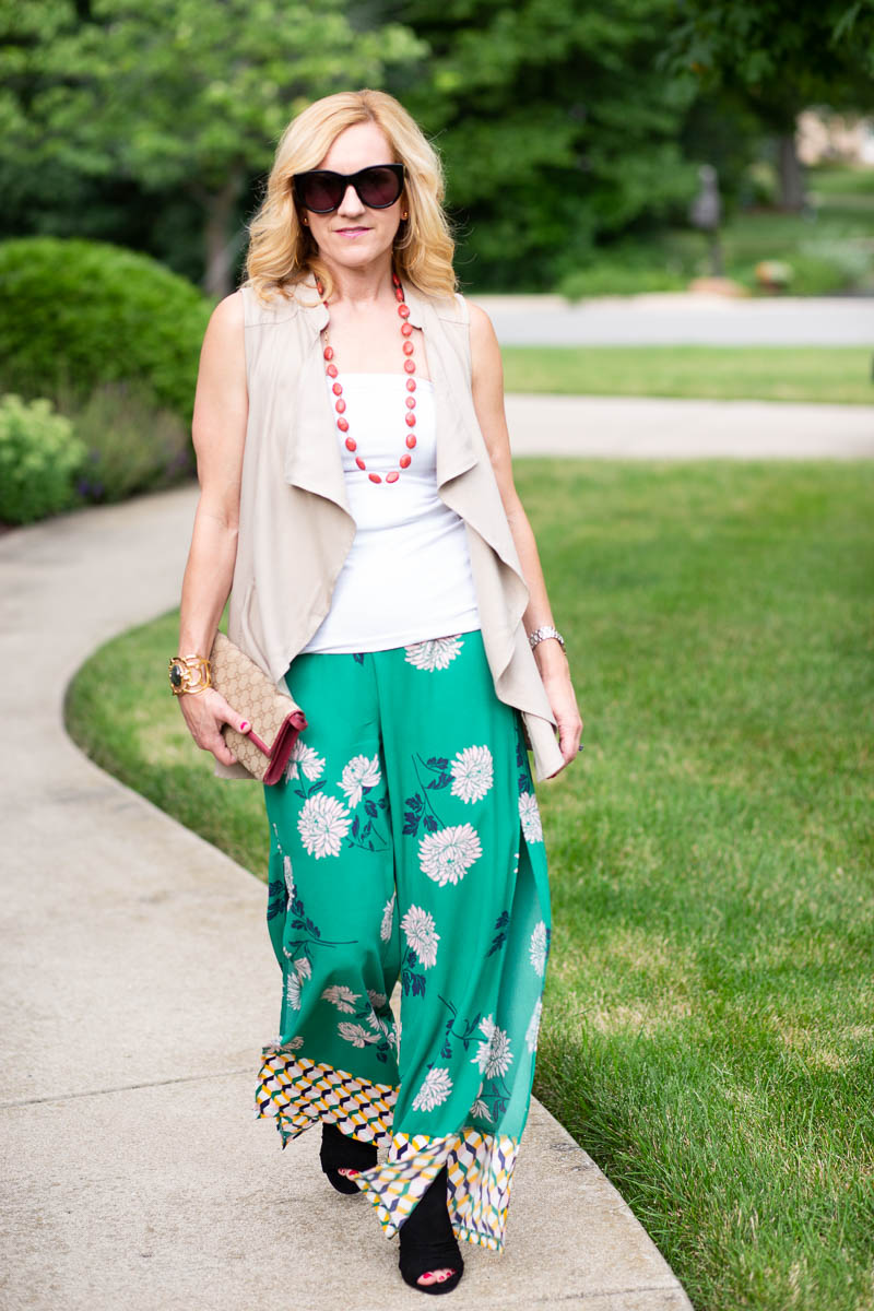 Vested Interest in Palazzo Pants by Kathrine Eldridge, Wardrobe Stylist