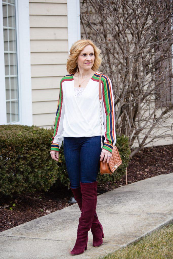 Sporty Stripes with Armoire by Kathrine Eldridge, Wardrobe Stylist