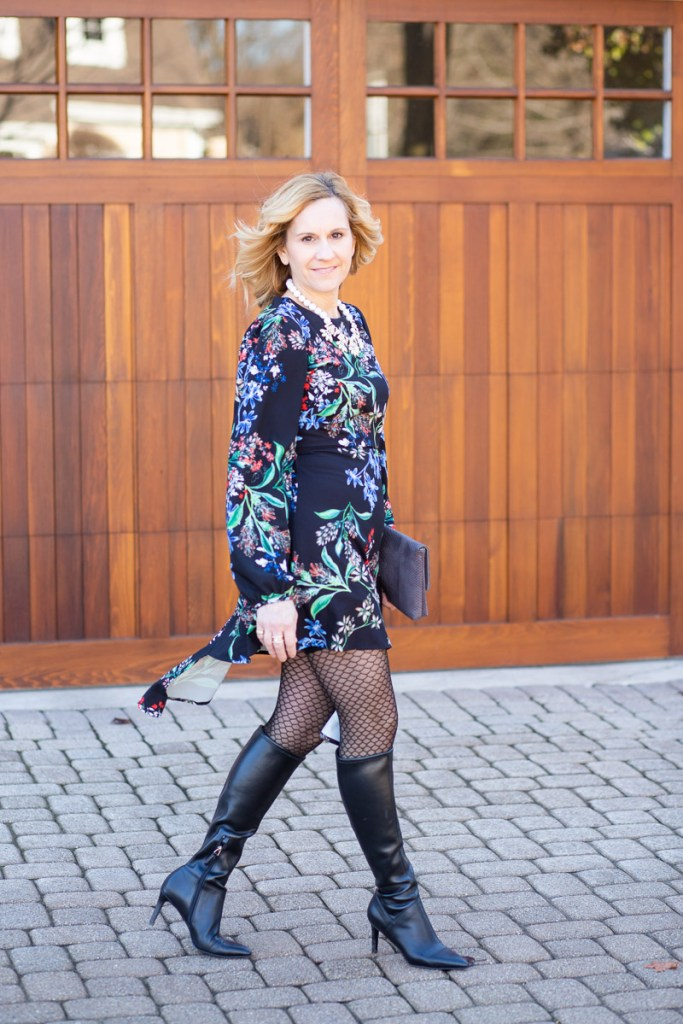 Edgy Floral Dress by Stylestalker from Rent the Runway