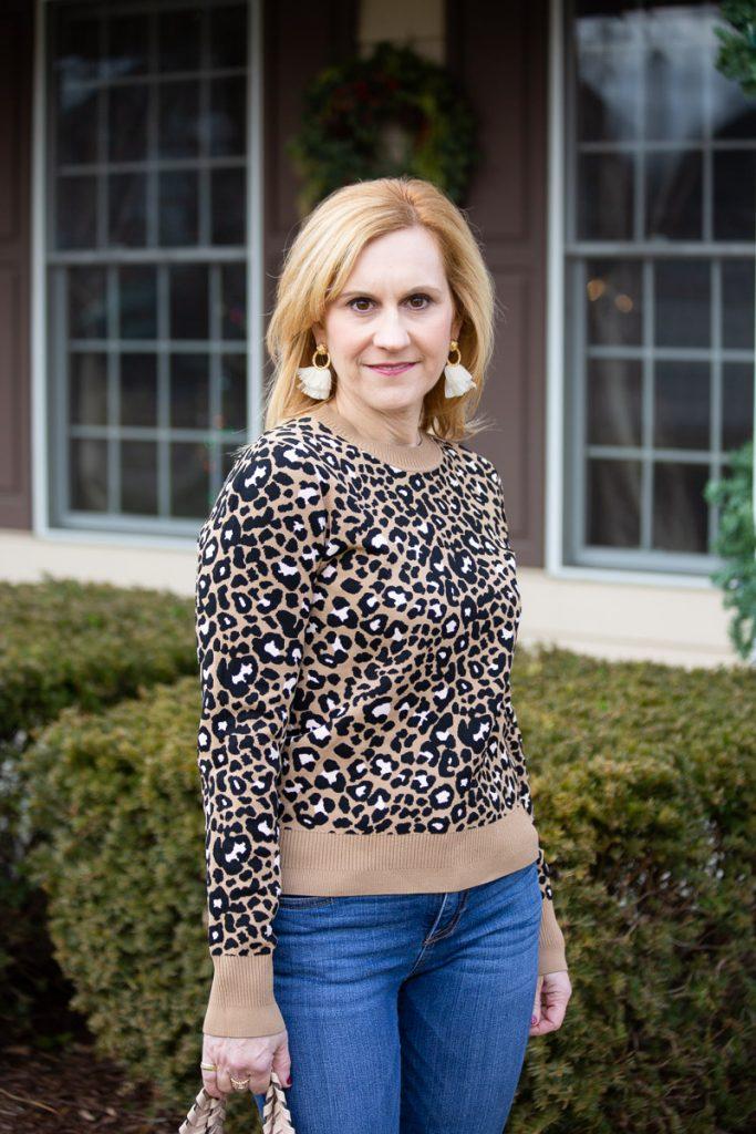 Leopard Print Sweater by Tara Jarmon