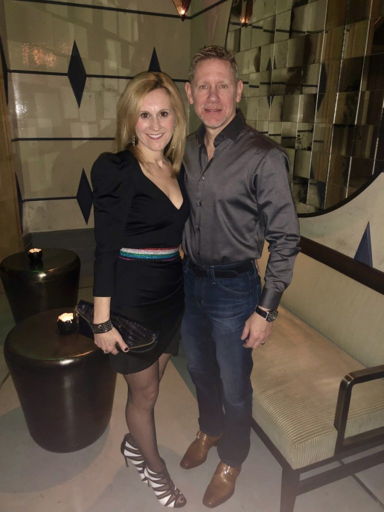My husband and I before having dinner at Rose. Rabbit. Lie. at the Cosmopolitan Hotel in Las Vegas.