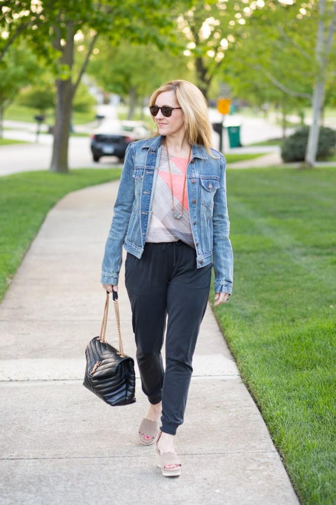 How to Dress up Joggers by Kathrine Eldridge, Wardrobe Stylist