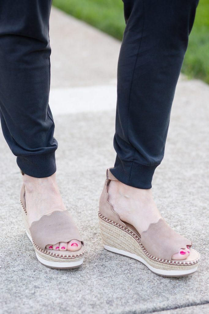 Crown Vintage Espadrille Wedge Sandals in Camel Brown from DSW