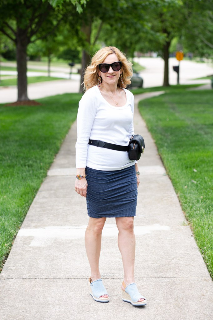 Cool Fanny Pack and the Best White Tee by Kathrine Eldridge, Wardrobe Stylist