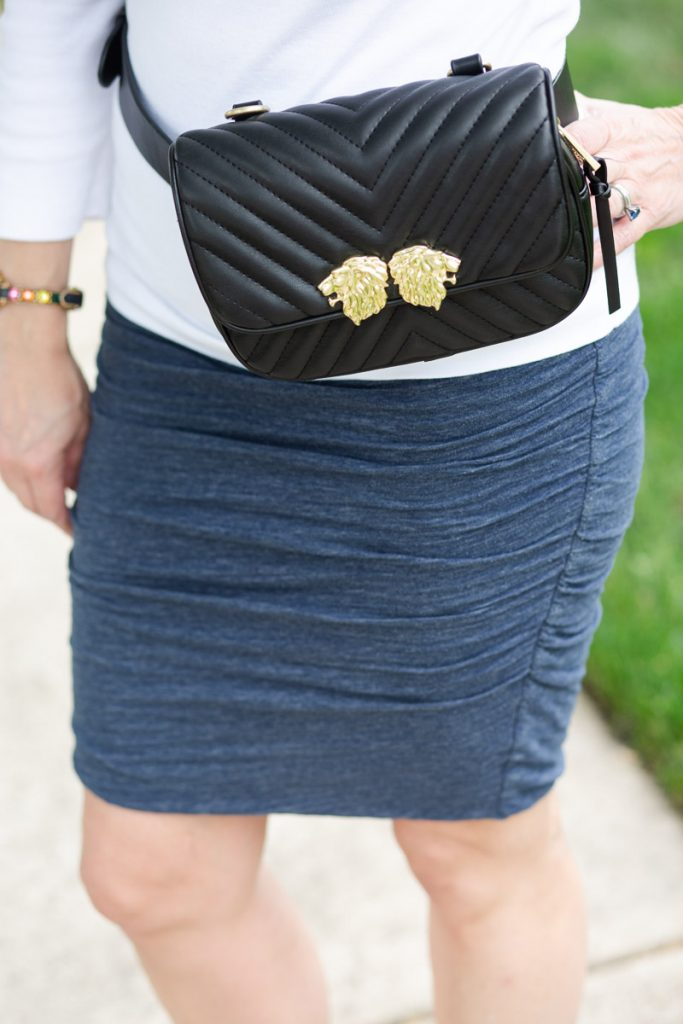 Quilted Fanny Pack with Cotton Pencil Skirt