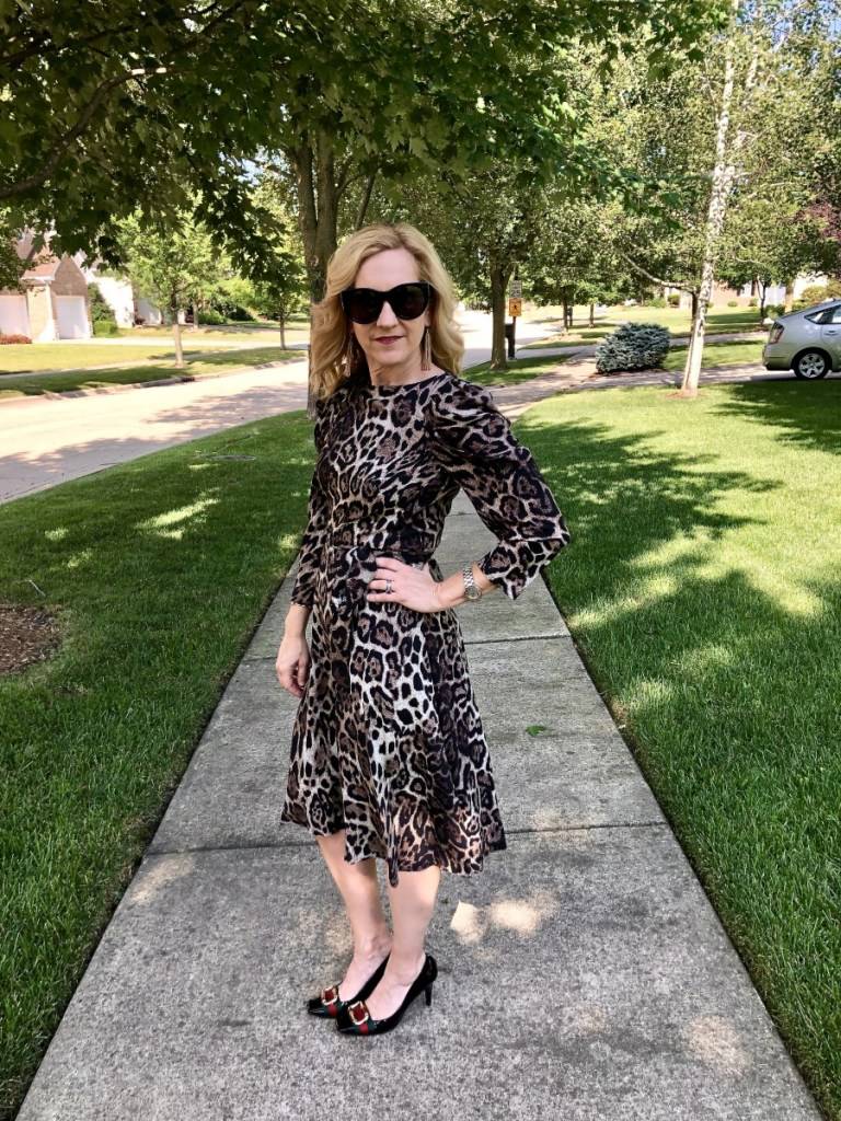 Leopard Print Long Sleeve Midi Dress from Nordstrom Anniversary Sale