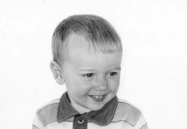 Milan, boy, drawing, pencil, graphite art, Kathrin Guenther web file