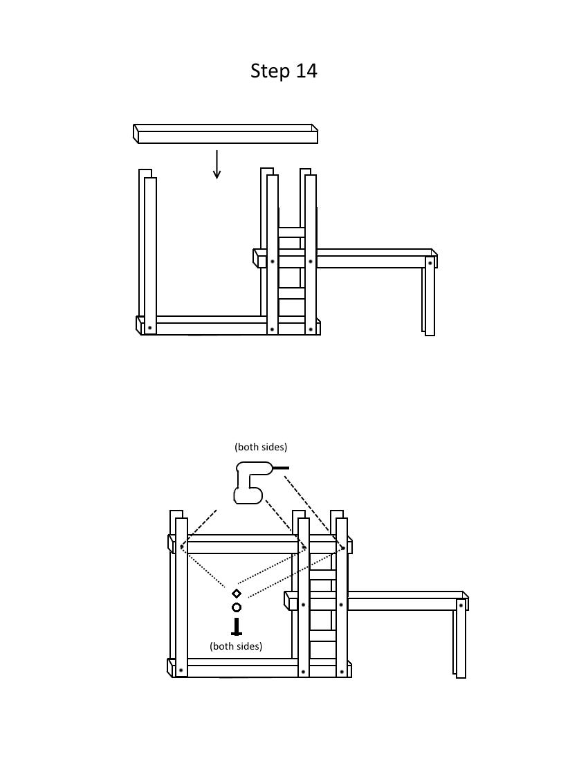 Triple bunk bed plans page 7, step 14