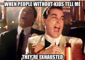 silly parenting meme about sleep