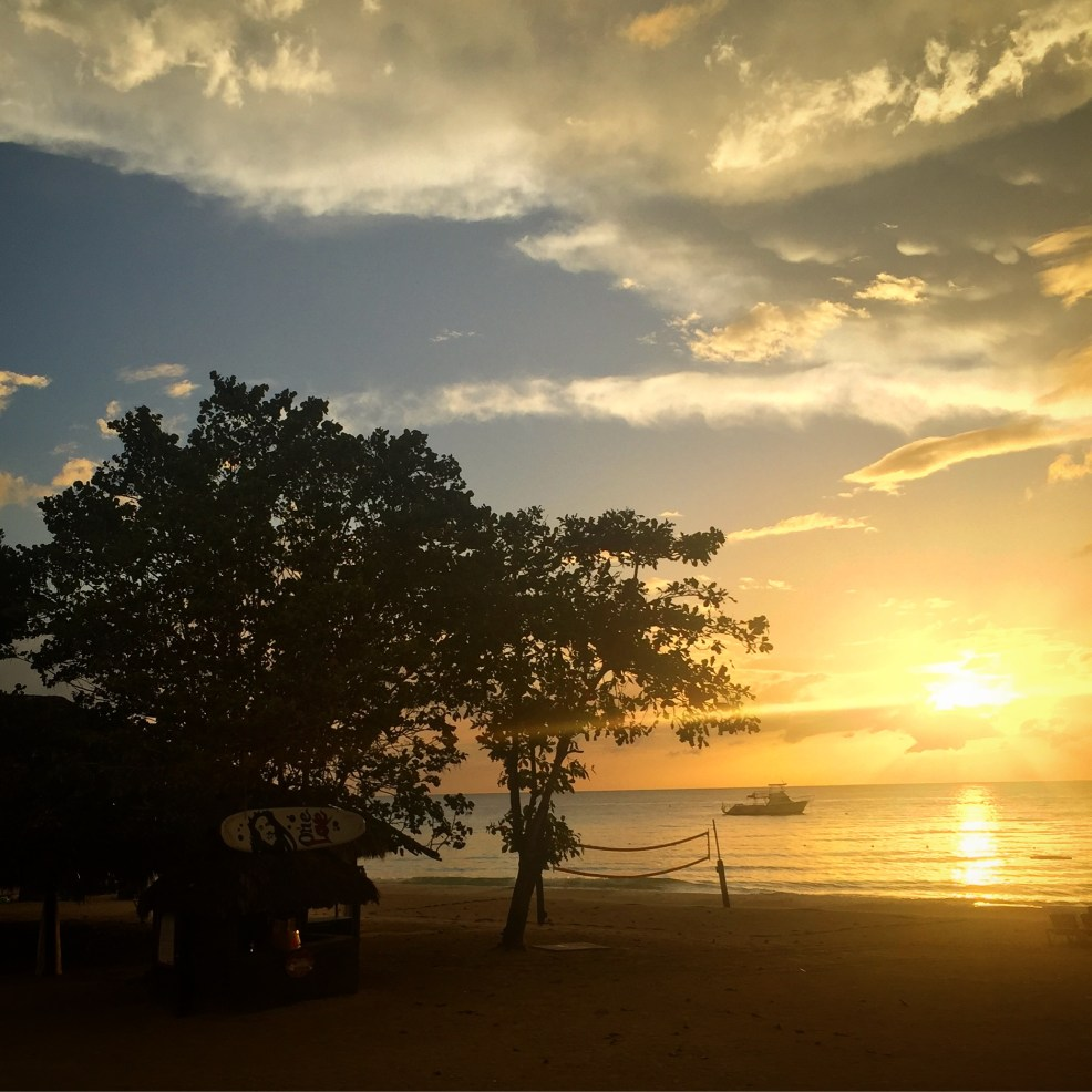Sunset in Negril, Beaches Resort #beachesresorts #beachesnegril #jamaicaresorts #beachesmoms #negriljamaica #sevenmilebeachnegril