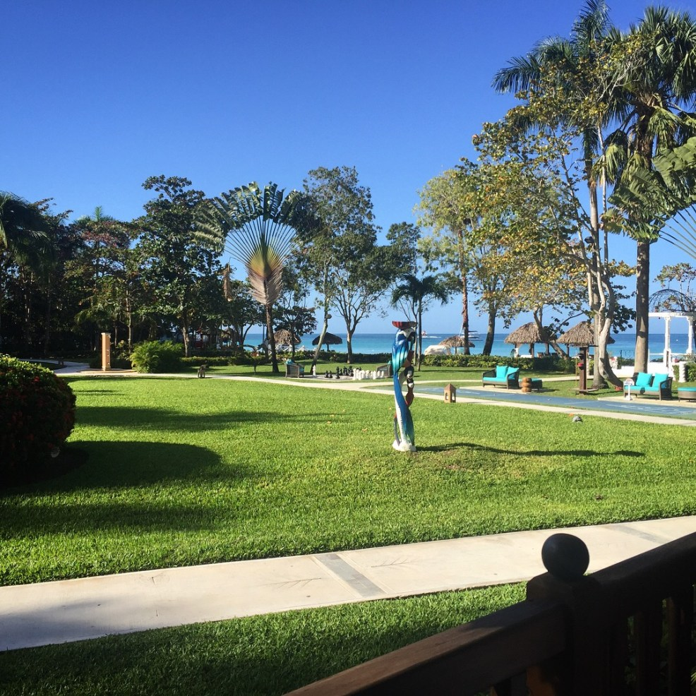 view of grounds of beaches resort in negril