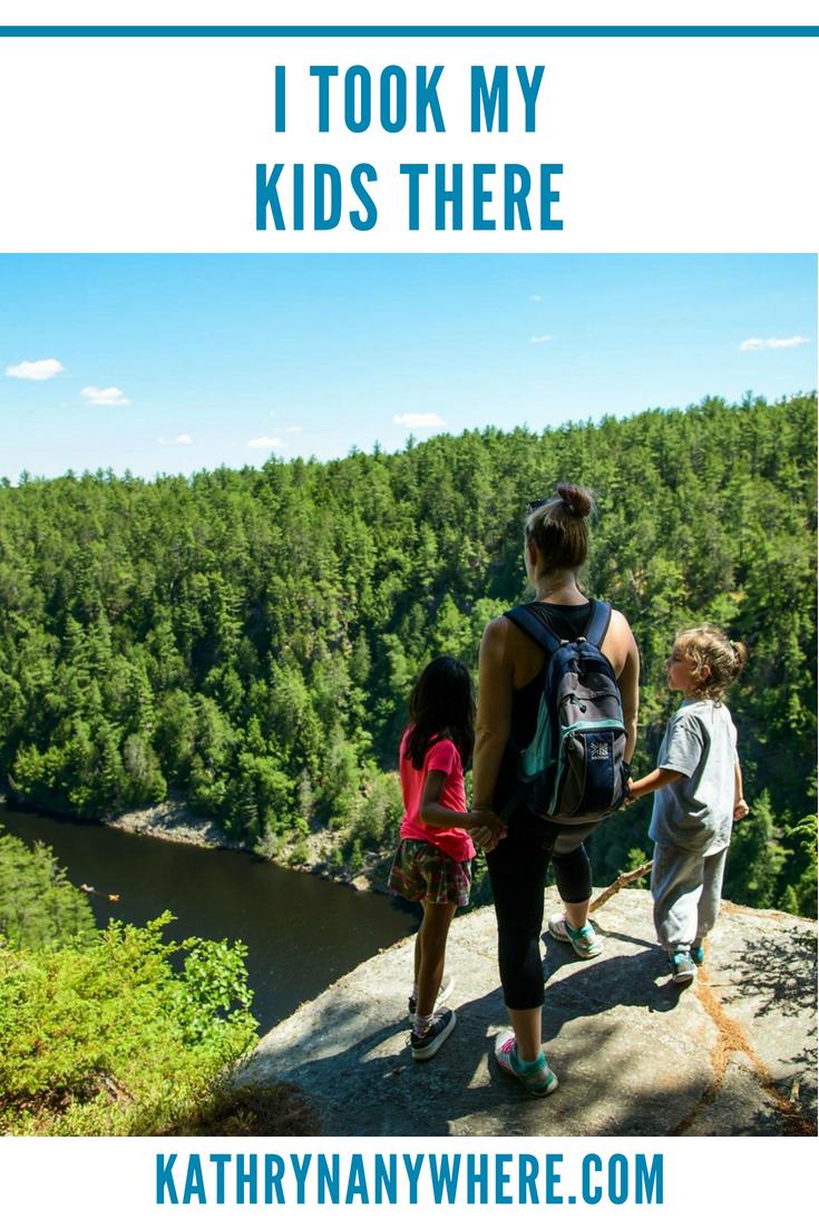 Adventure Parenting in Canada #getoutside #showyourkidstheworld #canadianfamily #outdoorsfamily #hikingkids #ontarioisbeautiful #takeahike #hikelife #keepthemwild