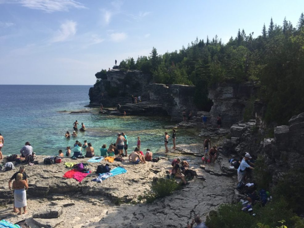 Indian Head Cove, east of the Grotto