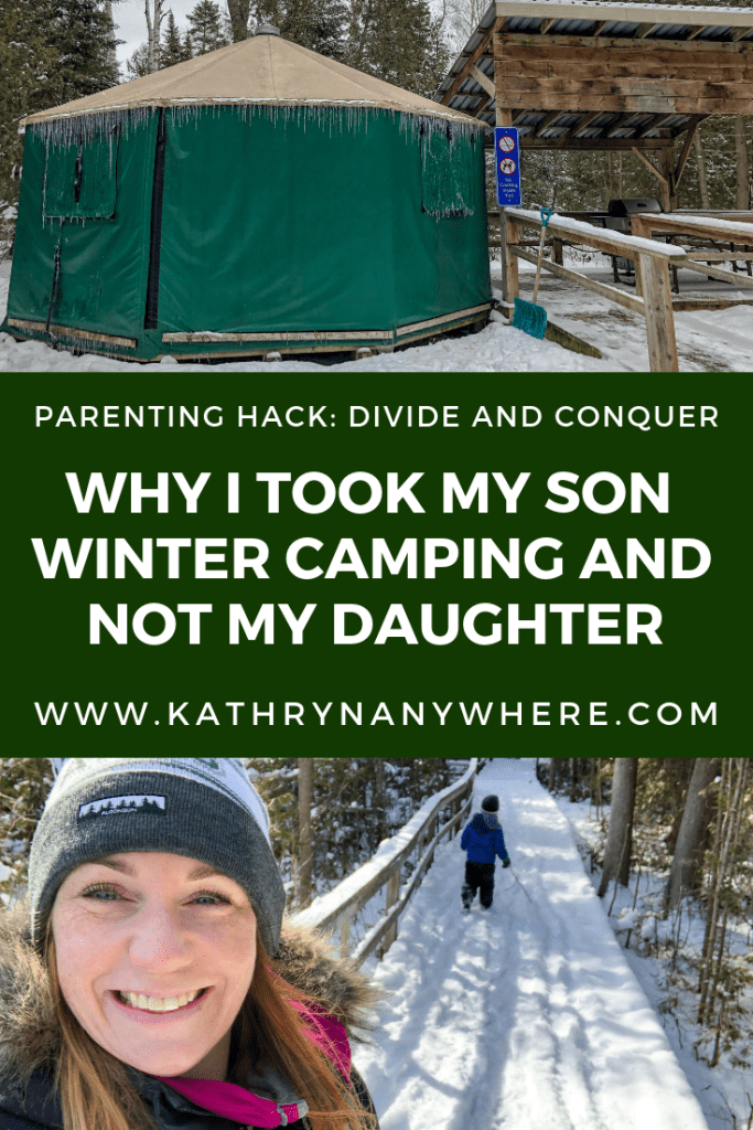 Yurt #60, I went winter camping at MacGregor Point Provincial Park in February with my son, but not my daughter. It was an amazing experience for him #findyourselfhere #macgregorpointprovincialpark #macgregorpoint #macgregorpp #ontarioparks #yurtcamping #wintercamping #outdoors #adventureparenting #portelgin #brucepeninsula